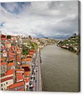 City Of Porto In Portugal Canvas Print