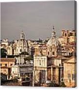 City Of Rome At Dusk Canvas Print