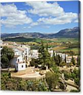 City Of Ronda In Spain Canvas Print