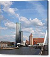 City Of Rotterdam From Erasmus Bridge Canvas Print