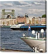 City Of Rotterdam Urban Scenery Canvas Print