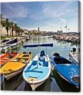 City Of Split Colorful Harbor View Canvas Print