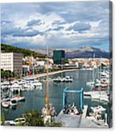 City Of Split Port In Croatia Canvas Print