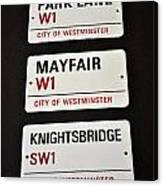 City Of Westminster Canvas Print