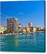City Of Zadar Waterfront And Harbor Canvas Print