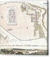 City Plan Or Map Of Pompeii Canvas Print
