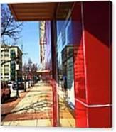 City Sidewalk Canvas Print