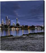 City Skyline At Night Canvas Print