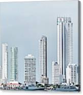City Skyline, Bocagrande, Cartagena Canvas Print