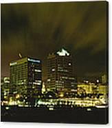 City Skyline With Milwaukee Art Museum Canvas Print