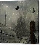 City Snow Canvas Print
