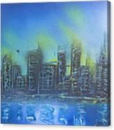 City Spray II Canvas Print
