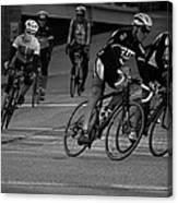 City Street Cycling Canvas Print