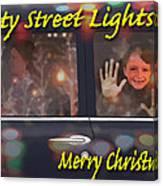 City Street Lights Canvas Print