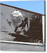 City Surfin Street Art Canvas Print