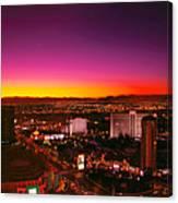 City - Vegas - Ny - Sunrise Over The City Canvas Print