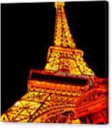City - Vegas - Paris - Eiffel Tower Restaurant Canvas Print