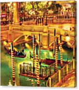 City - Vegas - Venetian - The Venetian At Night Canvas Print