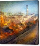 Cityscape #17 - Redpolis Canvas Print