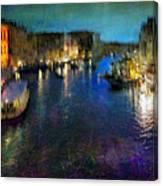 Cityscape #19. Venetian Night Canvas Print