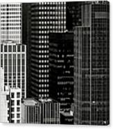 Cityscape In Black And White Canvas Print