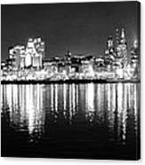 Cityscape In Black And White - Philadelphia Canvas Print