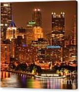 Cityscape Of Color Canvas Print