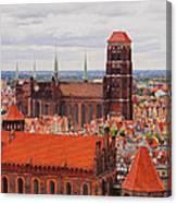 Cityscape Of Gdansk Canvas Print