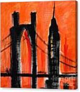 Cityscape Orange Canvas Print
