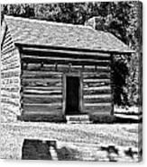 Civil War Cabin Canvas Print