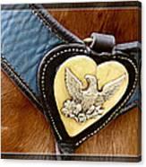Civil War Horse Breastplate Canvas Print