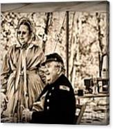 Civil War Officer And Wife Canvas Print