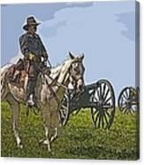 Civil War Officer Canvas Print