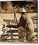 Civil War Soldier  Canvas Print