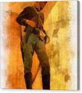 Civil War Soldier Photo Art Canvas Print