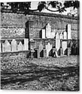 Civil War Wall Of Tombstones Savannah Georgia Canvas Print