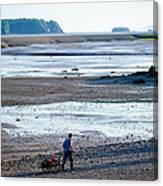 Clam Digger With Wagon Canvas Print