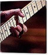 Clapton Playing Guitar - Watercolor Painting Canvas Print