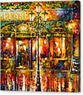 Clarens Misty Cafe Canvas Print