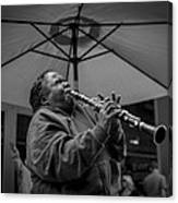 Clarinet Player In New Orleans Canvas Print