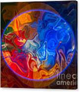 Clarity In The Midst Of Confusion Abstract Healing Art Canvas Print