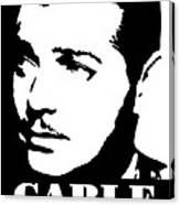 Clark Gable Black And White Pop Art Canvas Print