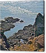 Clashing Tides At Tip Of Cape D'or-ns Canvas Print