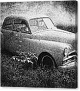 Clasic Car - Pen And Ink Effect Canvas Print