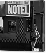 Classic 50s Motel Cafe Canvas Print