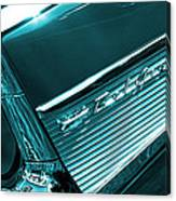 Classic '57 Teal And Chrome Canvas Print