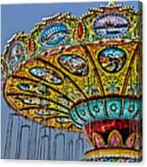 Classic Amusement Swing Canvas Print