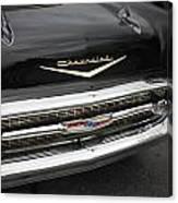 Classic Black Chevy Canvas Print