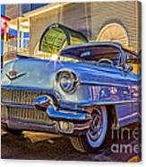 Classic Blue Caddy At Night Canvas Print