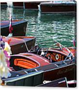 Classic Boats In Lake Tahoe Canvas Print
